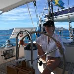 Jessica at the helm